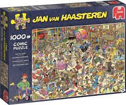Jumbo puzzel jan van haasteren de speelgoedwinkel 1000 stukjes.