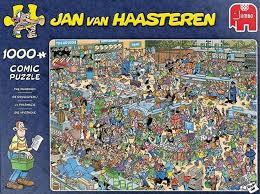 Jumbo puzzels jan van haasteren de Drogisterij 1000 stukjes.