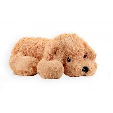 Pluche zachte hond liggend 80 cm lang