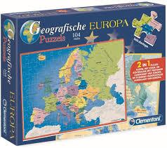 Geografische puzzel europa 104 stukjes.