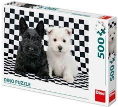 Dino puzzel 500 stukjes van 2 puppies.