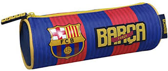 Barcelona etui rond met logo.
