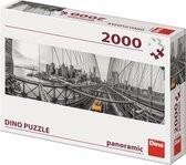 Puzzel van de Brooklyn Bridge uit newyork. van 2000 Stukjes.