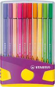 Stabilo color parade 20 x pen 68 in koker.