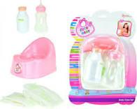 Toi-toys Potje, Drinkfles En Luier Voor Babypop Meisjes