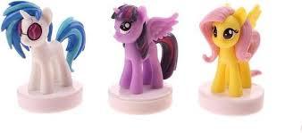 Stempels little pony. 3 op blister verpakt.