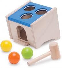 Wonderworld houten hamerbankje houten speelgoed, WED-3088