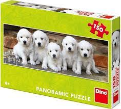 Panorama puzzel 5 puppies 150 stukjes