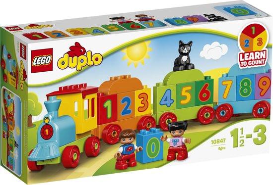 Lego duplo getallen trein bouwdoos, 10847