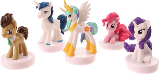 Little pony stempelset 5 delig van goliath.