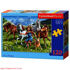 Castorland Puzzel Op een weide