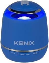 Konix bleutooth speaker blauw voor smartphone en tablets.7,5 cm hoog