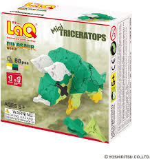LaQ Mini Triceratops dinosoraus wold.
