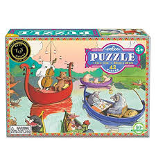 Puzzel Party on the lake
