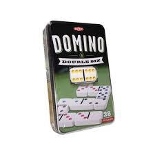 Tactic domino double six spel in blik 53913