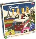 Tactic spel The great tour, ga met de bus op avontuur in europa.
