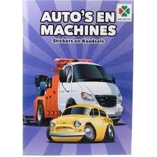 Auto's en Machines Stickers en Raadsels