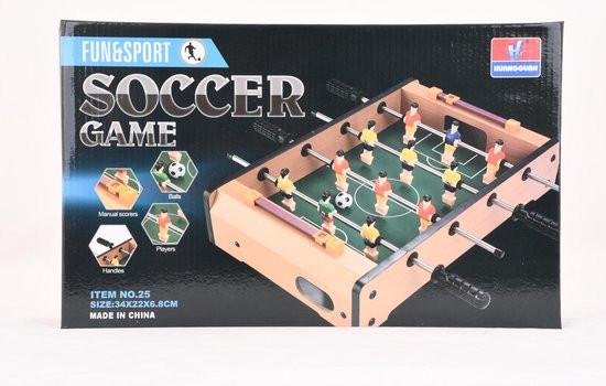 Tafel voetbal spel soccer game.