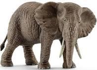 Schleich afrikaanse olifant vrouwelijk.