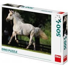 Dino puzzel White horse in the meadow. 500 stukjes