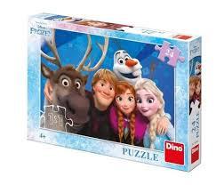 Dino Puzzel 24 stukjes Frozen Bevroren Selfie