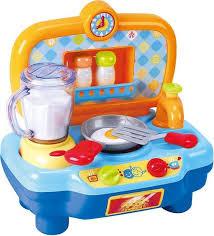 Playgo keukentje compleet met mixer, pan , en peper en zout stel.