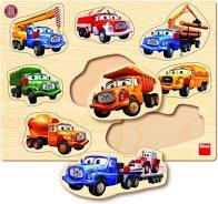 Tatra Houten Noppenpuzzel Vrachtwagen 8 stukjes
