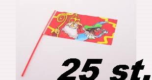 Sinterklaas zwaai vlaggetjes 25 stuks.