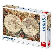 Dino Puzzel Historische Wereldkaart 1000 stukjes
