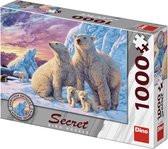Puzzel met geheimen ijsberen verstopt. 1000 stukjes