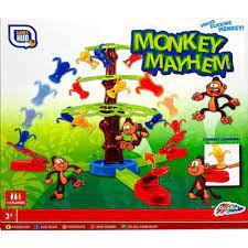 Monkey mayhem spel. schiet de aapjes in de boom.