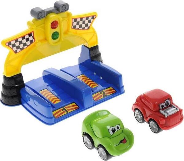 Red box Extreme car racing set met licht en geluid.