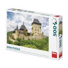 Dino puzzel 500 stukjes van kasteel Karlstejn .