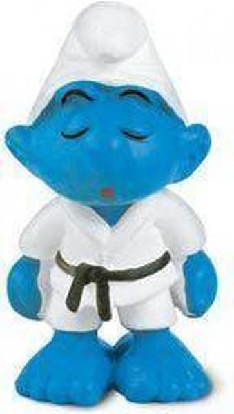 Schleich smurfen judo smurf 5,5 cm hoog.