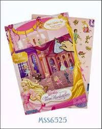 Barbie raamstickers met panorama kaart.34 stickers.