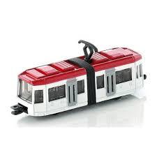 Siku tram rood wit 9 cm lang.