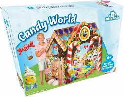 Speelhuisje candy world. afm 95x72x102 cm groot.