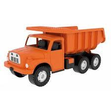 Tatra kiepwagen oranje.
