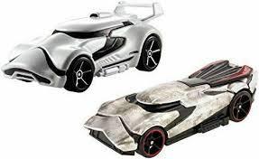 Starwars auto's van Hotwheels, Stormtrooper en Captain Phasma.