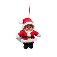 Monchichi Kersthanger 10 cm Kerstman