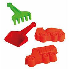 Dino toys schepje ,hark en 2 zandvormen.