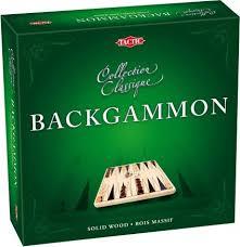 Tactic spel backgammon van hout.