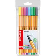Stabil fineliners point 88 pastel kleuren.