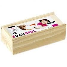 Engelhart damstenen 32 mm in houten kistje.