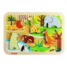 Janod Chunky Puzzel de Dierentuin