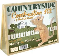 Monty de muis countryside construction kit van hout.