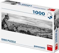 Dino Panorama Puzzel Waterspuwer in Parijs 1000 Stukjes