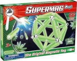 Supermag glow 66 delige magnetenset.