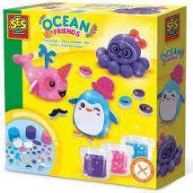 Ses creatief oceaan dieren maken met klei.
