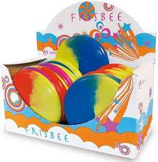 Frisbee 2 kleuren door elkaar,